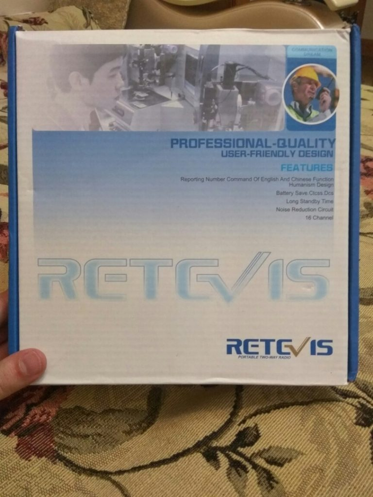 Упаковка рации Retevis H777