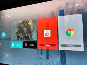 Вид приставки Vorke Z6 на экране