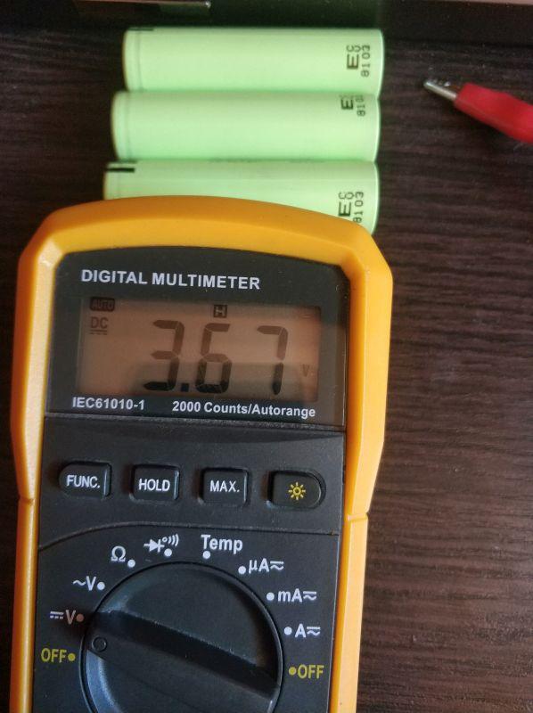 Проверяем емкость NCR18650B-3-7-v-3400
